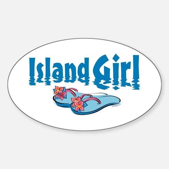 Island Girl 2 Oval Decal