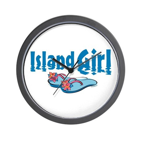 Island Girl 2 Wall Clock