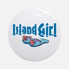 Island Girl 2 Ornament (Round)