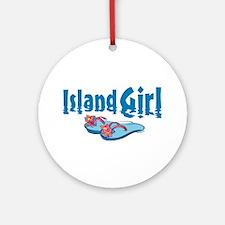 Island Girl 2 Ornament (Round)
