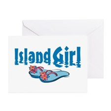 Island Girl 2 Greeting Cards (Pk of 20)
