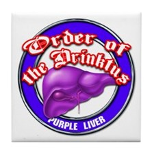 Purple Liver Tile Coaster