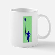 READY TO ROW GREEN BLUE PAINTED Mug