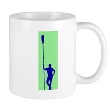 READY TO ROW GREEN BLUE PAINTED Small Mug