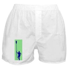 READY TO ROW GREEN BLUE PAINTED Boxer Shorts