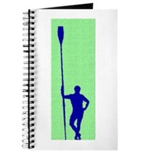 READY TO ROW GREEN BLUE PAINTED Journal