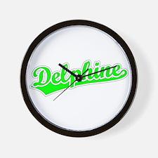 Retro Delphine (Green) Wall Clock