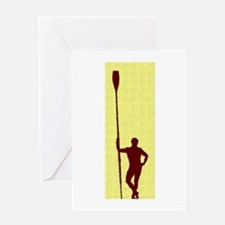 READY TO ROW YELLOW RED PAINTED Greeting Card