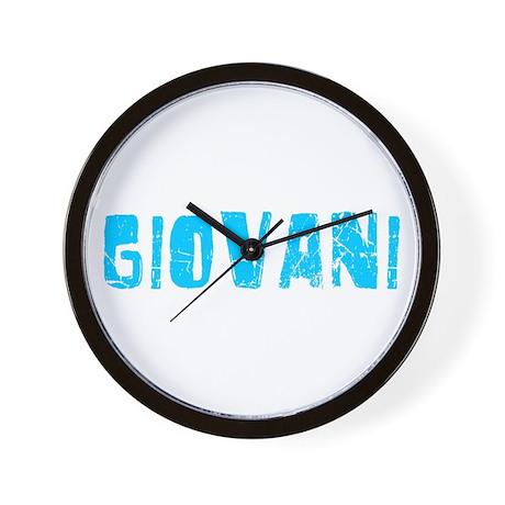 Giovani Faded (Blue) Wall Clock