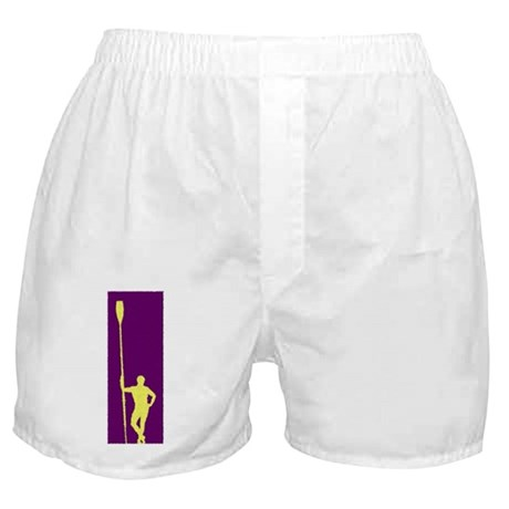 READY TO ROW PURPLE YELLOW PAINTED Boxer Shorts