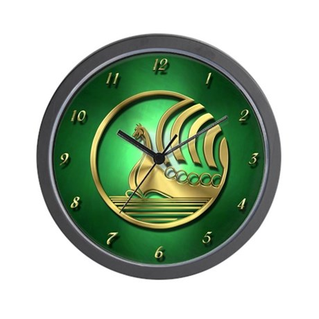 Norseman Green Wall Clock