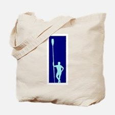 READY TO ROW BLUE LIGHT BLUE PAINTED Tote Bag