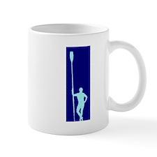 READY TO ROW BLUE LIGHT BLUE PAINTED Mug