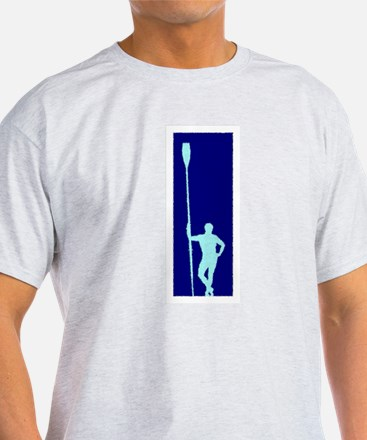 READY TO ROW BLUE LIGHT BLUE PAINTED T-Shirt