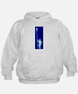 READY TO ROW BLUE LIGHT BLUE PAINTED Hoodie