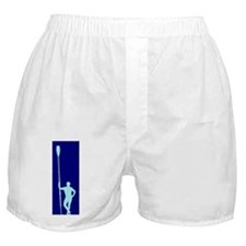 READY TO ROW BLUE LIGHT BLUE PAINTED Boxer Shorts