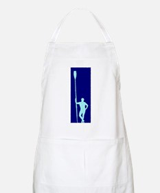 READY TO ROW BLUE LIGHT BLUE PAINTED BBQ Apron