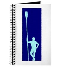 READY TO ROW BLUE LIGHT BLUE PAINTED Journal