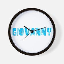 Giovanny Faded (Blue) Wall Clock