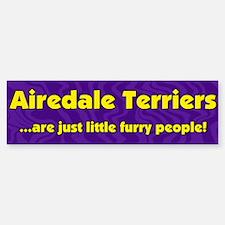 Furry People Airedale Terrier Bumper Bumper Bumper Sticker