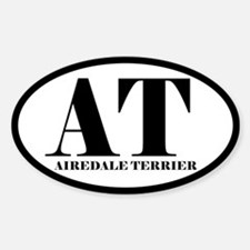 AT Abbreviation Airedale Terrier Oval Decal