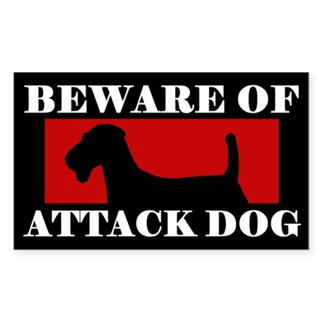 Beware of Attack Dog Airedale Terrier Sticker