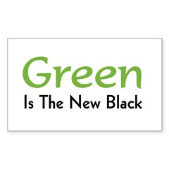 Green Is The New Black Rectangle Decal
