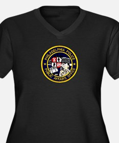 Philly PD P.A.O. Women's Plus Size V-Neck Dark T-S