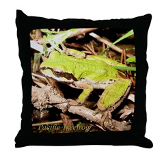 Pacific Treefrog Throw Pillow