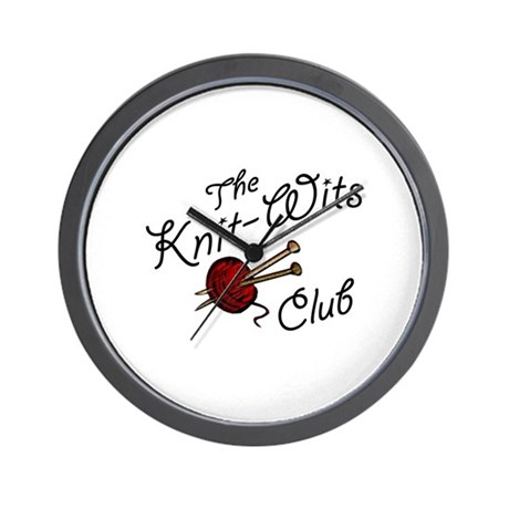 Knit Wit Club Wall Clock