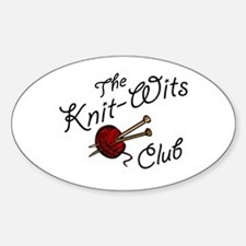 Knit Wit Club Oval Decal