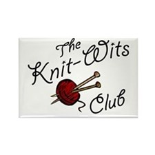 Knit Wit Club Rectangle Magnet