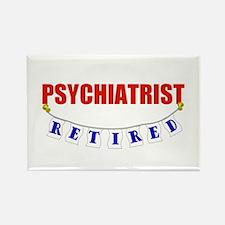 Retired Psychiatrist Rectangle Magnet