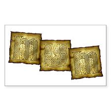 Celtic Letters MUM Rectangle Decal