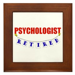Retired Psychologist Framed Tile
