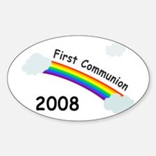 1st Communion Oval Decal