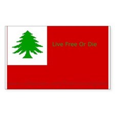 New England Flag Rectangle Decal