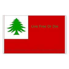 New England Flag Rectangle Decal