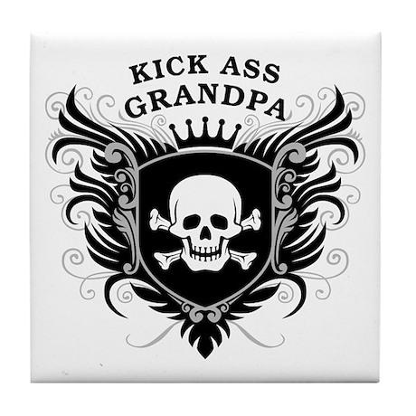 Kick Ass Grandpa Tile Coaster