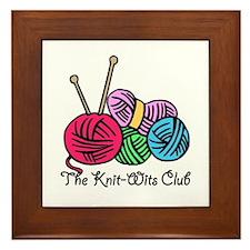 Knit Wits Club Framed Tile