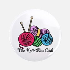 """Knit Wits Club 3.5"""" Button"""