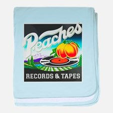 Peaches Records and Tapes logo baby blanket