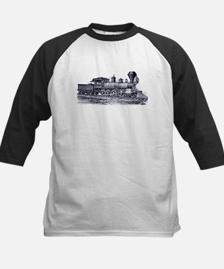 Locomotive (Blue) Kids Baseball Jersey