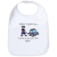 Future Policeman just like Dad Bib