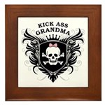 Kick Ass Grandma Framed Tile