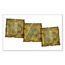 Celtic Letters DAD Rectangle Decal