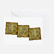 Celtic Letters DAD Greeting Card