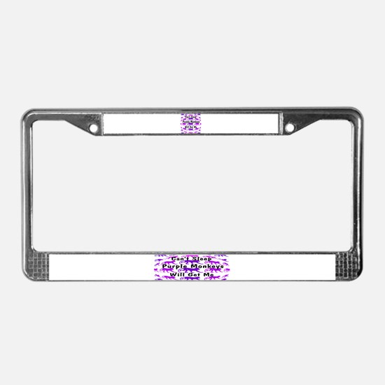 Can't Sleep Monkeys Will Get License Plate Frame