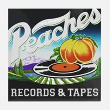 Peaches Records and Tapes logo Tile Coaster