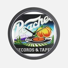 Peaches Records and Tapes logo Wall Clock